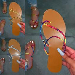 Women Summer Comfort Casual Thong Flats Flip Flops Sandals S