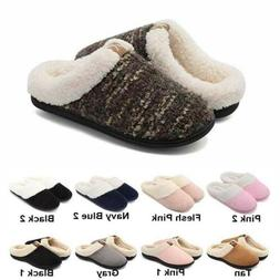 Women Sole Home Anti-Skid Rubble Slippers Winter Plush Fleec