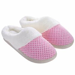 Women Soft Slippers Memory Foam Comfortable House Shoes Anti