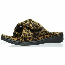 Vionic Womens Indulge Relax Tan Leopard Slippers Size 5