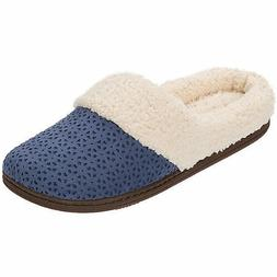 Dearfoams Womens Microsuede Clog Slippers