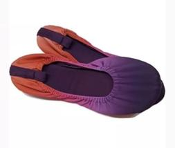 Womens Dearfoams Purple Ballet Slippers W/ MEMORY FOAM Size