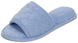 Dearfoams Womens Quilted Memory Foam Slippers