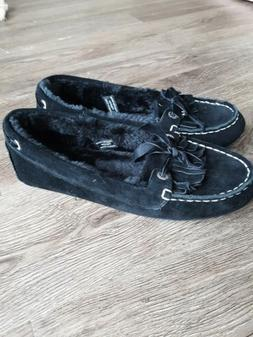 Womens Sperry Top Sider Slippers Size 8 New Black