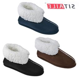 Womens Winter House Slippers Boots Cotton Soft Home Warm Bed