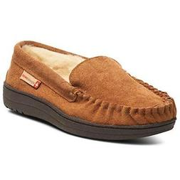 Alpine Swiss Yukon Mens Suede Shearling Moccasin Slippers Mo